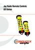 Jay Radio Remote Controls - UD Series