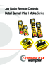 Jay Radio Remote Controls - Beta | Gama | Pika | Moka Series